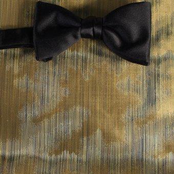 Schleife-Fliege Gruen, Gold - gemustert, Dessin 200167