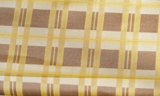 Einstecktuch Gelb, Braun, Creme - Karos, Dessin 200174