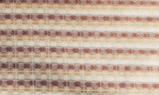 Plastron Gold, Braun, Creme - Streifen, Dessin 200178