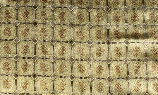 Krawatte Gold, Schwarz - Karos, Dessin 200180
