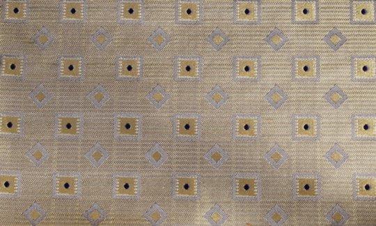 Krawatte Gelb, Silber, Marine, Grau - Karos, Dessin 200182