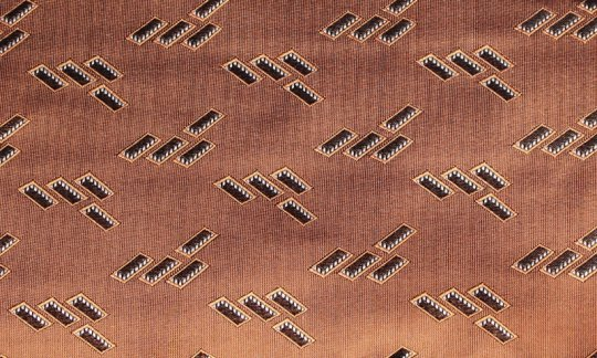 Kummerbund Braun, Terracotta - gemustert, Dessin 200184