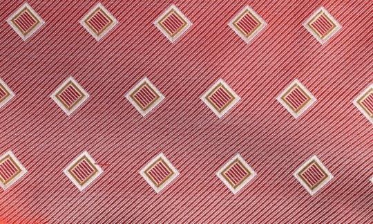Seidenschal Rot, Gelb, Silber, Weiß - Karos, Dessin 200192