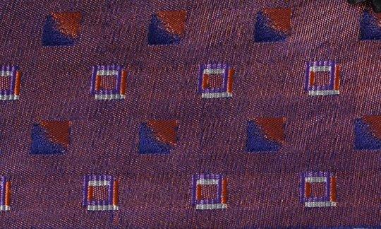 Plastron Rot, Marine, Weinrot, Terracotta - Karos, Dessin 200196