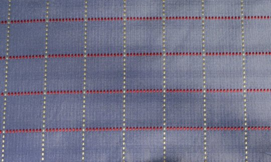 Plastron Rot, Gelb, Silber, Blau, Grau - Karos, Dessin 200201