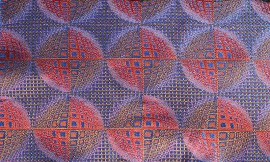 Kummerbund Rot, Blau, Weinrot - gemustert, Dessin 200207
