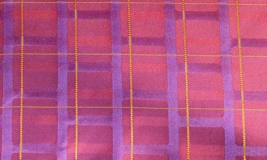 Einstecktuch Rot, Gelb, Flieder, Weinrot, Violett - Streifen, Dessin 200212