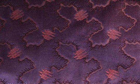 Einstecktuch Weinrot, Violett - Ton in Ton, Dessin 200215