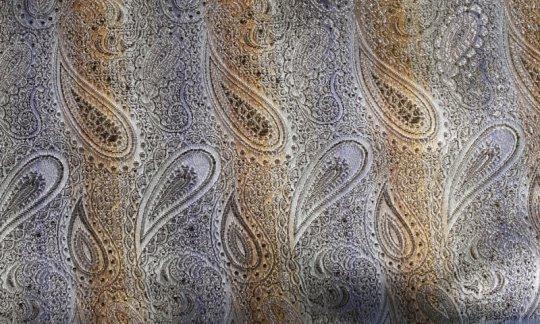 Einstecktuch Silber, Gold - Paisley, Dessin 200227