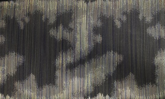 Seidenschal Gruen, Gold - gemustert, Dessin 200228