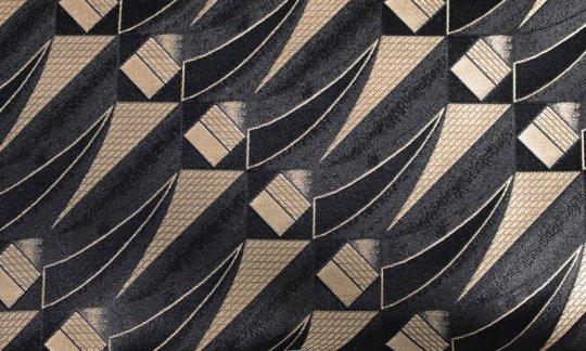 Krawatte Gold, Schwarz - gemustert, Dessin 200254