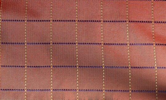 Krawatte Rot, Gold, Schwarz - Karos, Dessin 200268