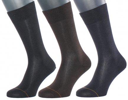 Business Socken mit Kaschmir Innenseite Schwarz 48-50