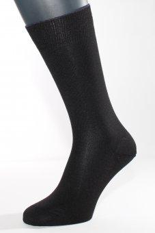 Wärmende Business Socken Seide, Baumwolle, Kaschmir schwarz