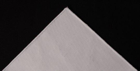 Einstecktuch Pochette Baumwoll-Piqué weiß