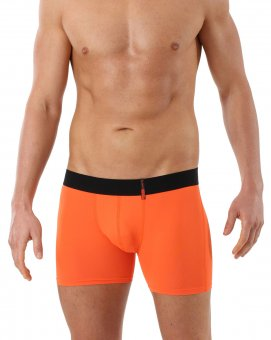 Retro Shorts Boxershorts Mikrofaser Orange