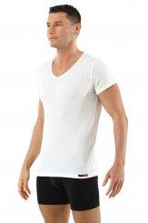 Albert Kreuz V-Funktionsunterhemd Business Herrenunterhemd unsichtbar aus Coolmax//Stretch-Baumwolle atmungsaktiv Sommer-Winter Klima-regulierend trockene Haut Kurzarm Hautfarbe Nude