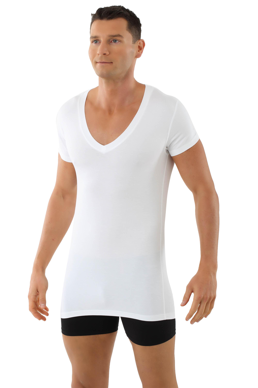 Herren Unterhemd Gr L Baumwolle weiß 6