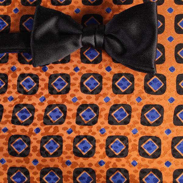 schleife fliege blau schwarz orange karos dessin. Black Bedroom Furniture Sets. Home Design Ideas