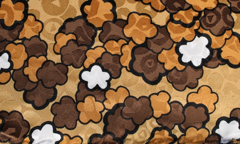 Einstecktuch Gold, Weiß, Braun, Orange - Blumen, Dessin 200149 ...