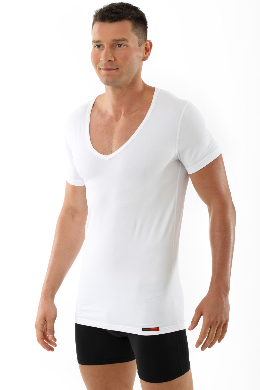 herren unterhemd deep v neck shirt wei albert kreuz. Black Bedroom Furniture Sets. Home Design Ideas