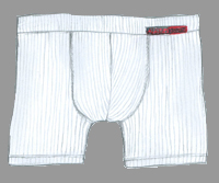 Retroshorts, Herren-Pants Sylt Weiß