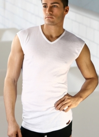 Business Herrenunterhemd V-Ausschnitt ohne Arm reine Baumwolle